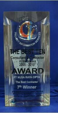 7 th Winner The Best Ten Consultant Contractor in Indonesia Award PT Nusa Raya Cipta1